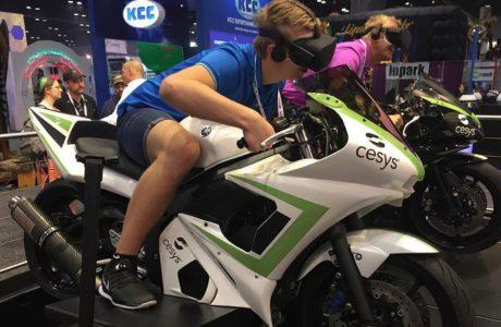 Motorbike simulator, product binnen enkele maanden ontwikkeld door ingenieursbureau Devoteq